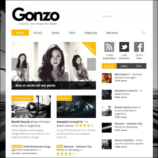 gonzo-clean-responsive-wp-theme