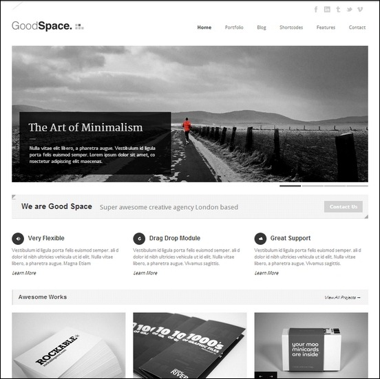 goodspace-space-responsive-minimal-wp-theme