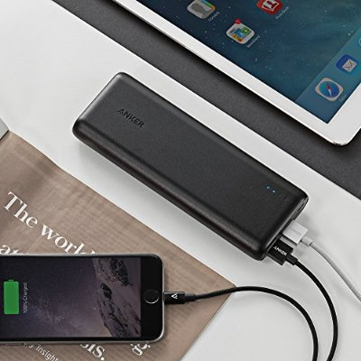 Anker PowerCore 15600 (15600mAh 2ポート 4.8A モバイルバッテリー) iPhone 6 / 6 Plus, iPad Air 2 / mini 3, Galaxy S6 / S6 Edge Android各種対応 マット仕上げ (ブラック)