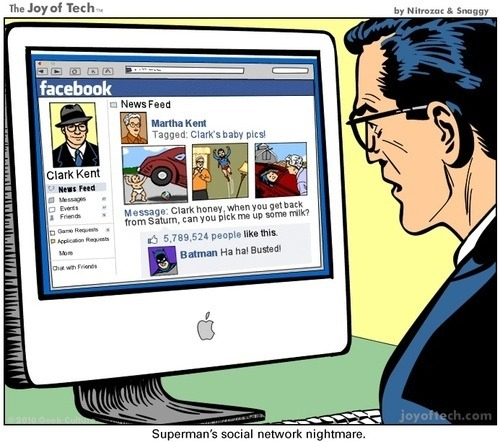 La pesadilla de Superman en Facebook on Twitpic